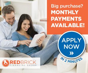 Monthly Payments with Red Brick Financing